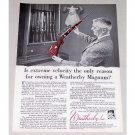 1961 Weatherby Magnum Rifle Color Print Ad - Extreme Velocity