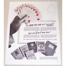 1944 U.S. Playing Card Company Gin Rummy Odds Vintage Print Ad