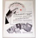 1944 U.S. Playing Card Company Pinochle Odds Vintage Print Ad