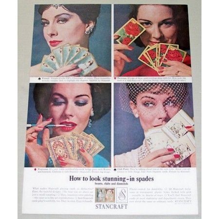 1962 Stancraft Playing Cards Color Print Ad