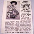 1952 Hopalong Cassidy Topper Inflatable Horse Vintage Toy Print Ad