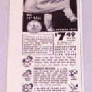 "1952 P.J Hill Co. Princess Precious 19"" Talking Doll Vintage Print Ad"