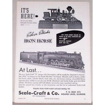 1951 Silver Streak Iron Horse Train Vintage Print Ad - It's Here