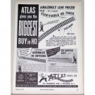 1951 Atlas Tool Co HO Scale Train Track Accessories Ad
