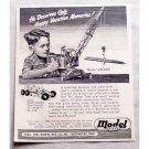 1949 Model Toys Pressed Steel Crane Toy Vintage Print Ad