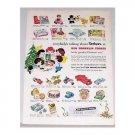 1954 Ben Franklin Stores Vintage Toys Color Print Ad