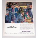 1946 Webster Cigars Color Print Art Ad - Welcome At 21 Club