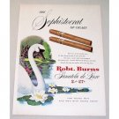 1951 Robt. Burns Panatela Deluxe Cigars Color Print Swan Art Ad