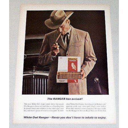 1964 White Owl Ranger Cigars Color Print Ad