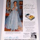 1954 Camel Cigarettes Tobacco Vintage Color Print Ad Mrs. Charles Brooks Armour