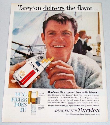 1961 Tareyton Cigarettes Color Tobacco Color Print Ad