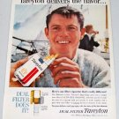 1961 Tareyton Cigarettes Color Tobacco Color Print Ad