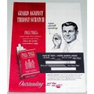 1950 Pall Mall Cigarettes Color Print Ad - Puff By Puff