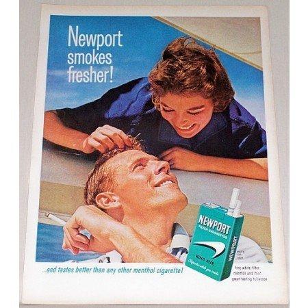 1964 Newport Cigarettes Color Print Ad - Smokes Fresher!