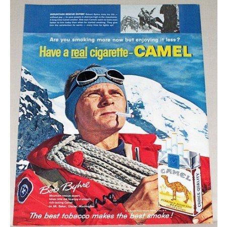1961 Camel Cigarettes Color Print Ad - Mountain Rescue Expert