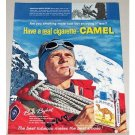 1961 Camel Cigarettes Color Print Ad - Mountain Rescue Expert
