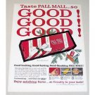 1960 Pall Mall Cigarettes Color Christmas Ad