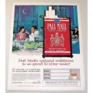 1960 Pall Mall Cigarettes Color Art Print Ad - People Congregate