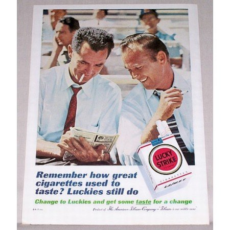 1961 Lucky Strike Cigarettes Color Print Ad - Remember How