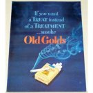 1948 Old Gold Cigarettes Color Print Ad - If You Want A Treat