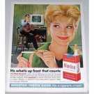 1962 Winston Cigarettes Color Print Ad - It's What's Up Front