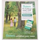1960 Salem Menthol Fresh Cigarettes Color Print Ad