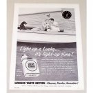 1955 Lucky Strike Cigarettes Sailing Vintage Tobacco Print Ad - Wish You Were Here