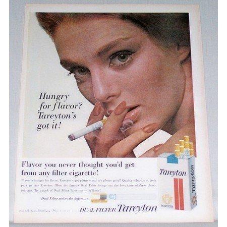 1962 Tareyton Cigarettes Vintage Tobacco Print Ad - Hungry For Flavor?