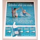1961 Newport Cigarettes Water Skiing Color Tobacco Print Ad