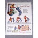 1943 Fleetwood Cigarettes Color Tobacco Print Ad - Paleface Friend
