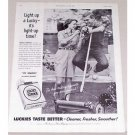 1955 Lucky Strike Cigarettes Manual Grass Cutter Vintage Tobacco Print Ad