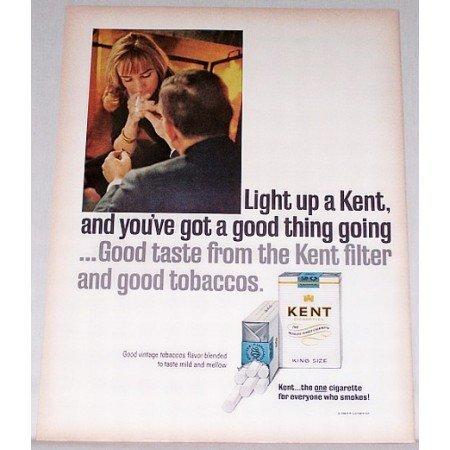 1965 Kent Cigarettes Color Tobacco Print Ad - Light Up A Kent