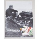 1971 Old Gold Filter Cigarettes Vintage Tobacco Print Ad - Get Away