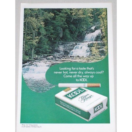 1971 Kool Cigarettes Color Tobacco Print Ad - Looking For A Taste
