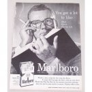1956 Marlboro Cigarettes Vintage Tobacco Print Ad - You Get A Lot To Like