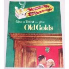 1949 Old Gold Cigarettes Color Tobacco Print Ad - Give A Treat