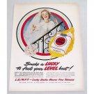 1949 Lucky Strike Cigarettes Wedding Art Vintage Tobacco Print Ad - Wedding Bride