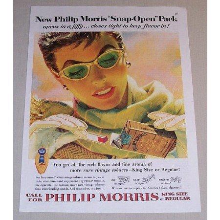 1954 Philip Morris Cigarettes Color Ad - Opens In A Jiffy