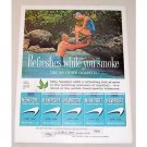1960 Newport Cigarettes Snorkeling Vintage Tobacco Print Ad