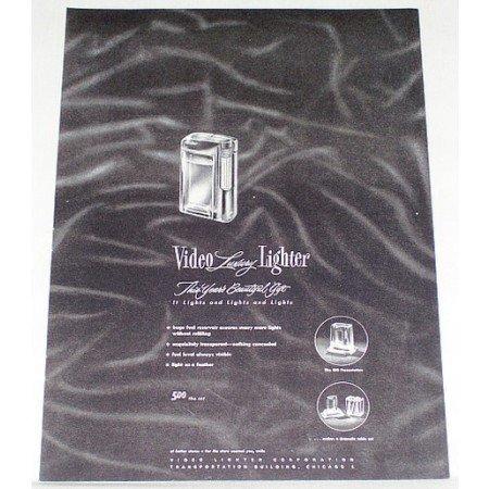 1948 Video Luxury Cigarette Lighter Vintage Print Ad