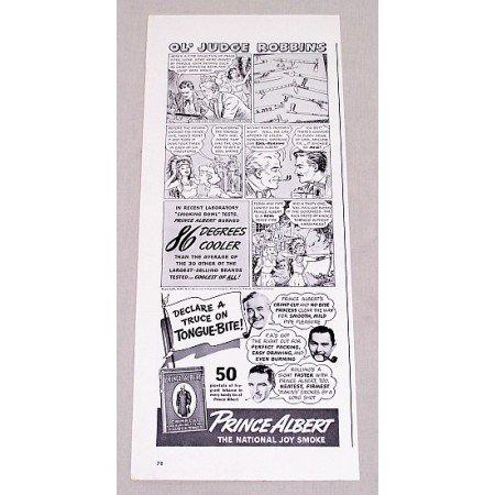 1940 Prince Albert Pipe Tobacco Vintage Print Art Ad - Ol' Judge Robbins