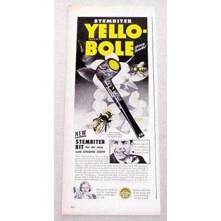 1947 Stembiter Yello-Bole Briar Smoking Pipe Color Print Ad