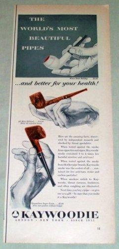 1953 Kaywoodie Briar Streamliner Tobacco Smoking Pipes Color Print Ad