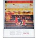 1964 Honda 4 Stroke 50cc Cycle Color Print Ad
