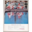 1964 Honda 4 Stroke 50cc Cycles Color Print Ad