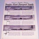 1949 Douglas Giant Transport Aircraft DC-6 DC-6A DC-6B Plane Vintage Print Ad