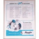1944 Douglas Aircraft Vintage Print Ad - VIP On These Airlines