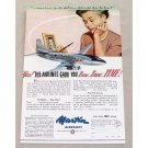 1955 Martin Aircraft Aviation Plane Color Print Ad
