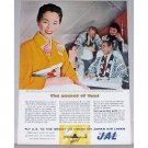 1957 Japan Air Lines Color Print Ad - The Secret Of Yumi