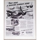 1944 Hudson Aviation Marauder Bomber Wartime Vintage Print Ad